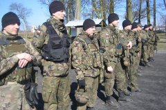 Klasa wojskowa na szkoleniu