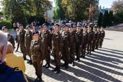 Uroczyste poświęcenie i wręczenie proporca klasom wojskowym