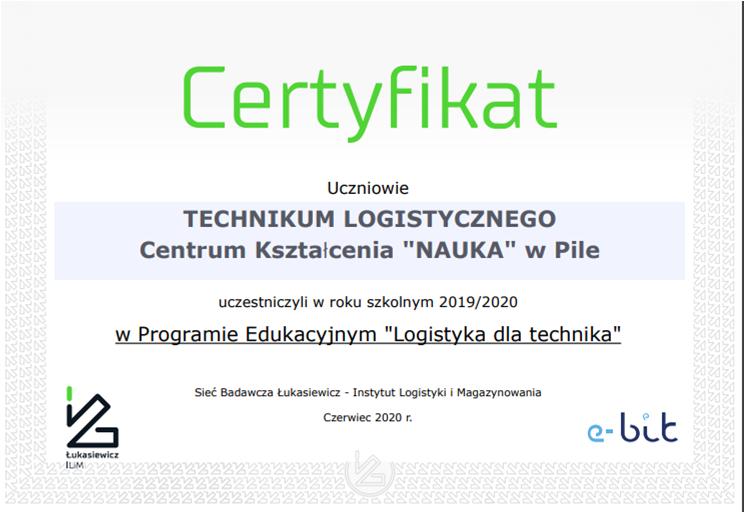 certyfikat TZ logistyka